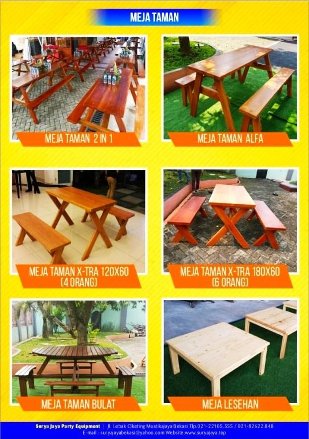 Sewa Meja Taman Murah - 0818 43 6095