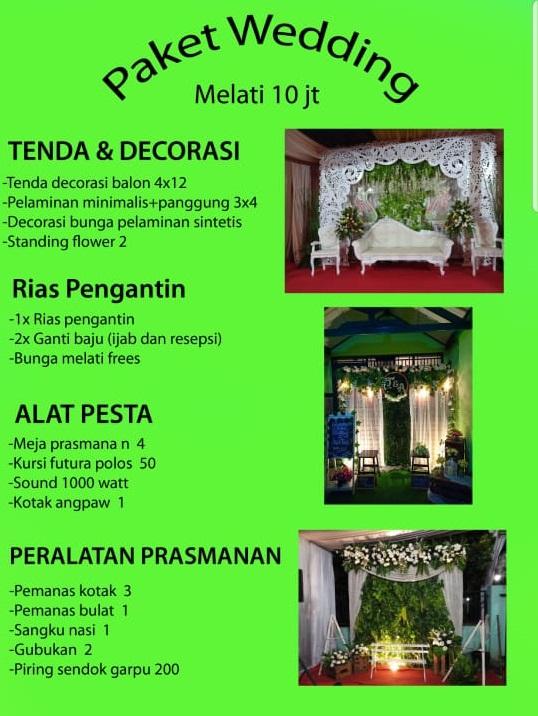 Paket Pernikahan 10juta - Paket Pernikahan Murah Bekasi 2019 - Paket Sewa Tenda Pernikahan Bekasi